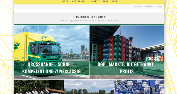 Appelmann Webseite: Screenshot