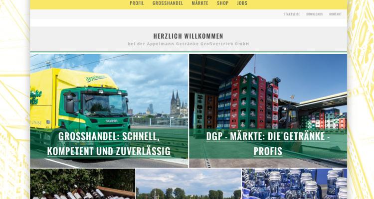 Appelmann Webseite: Screenshot